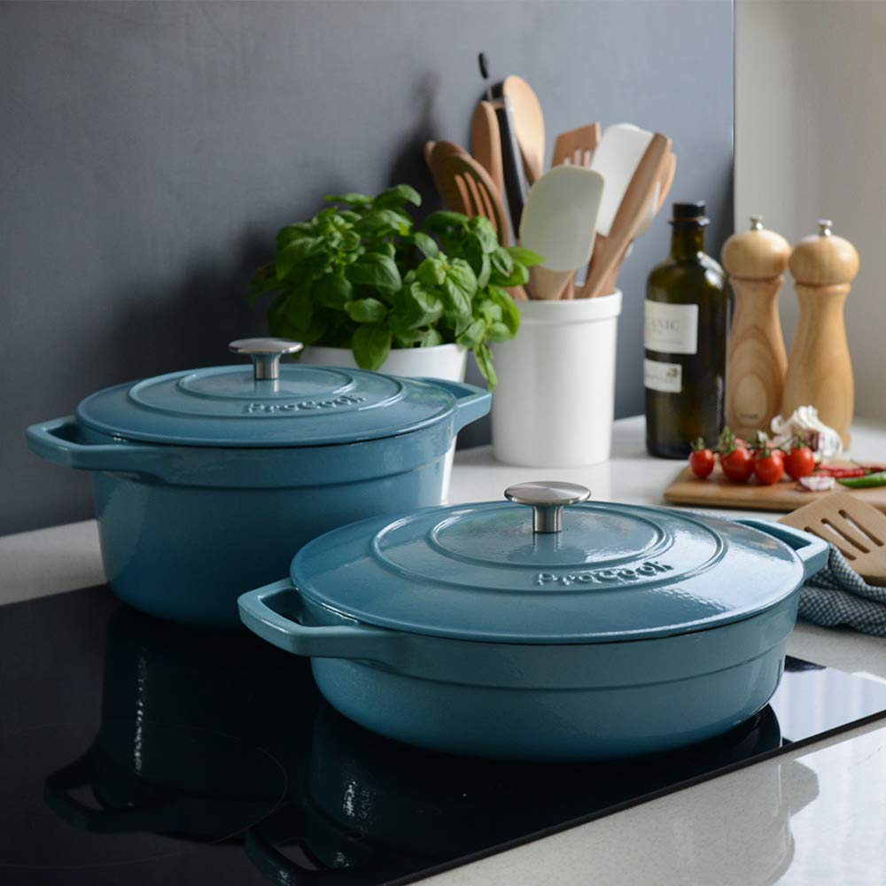 pro cook cast iron dish
