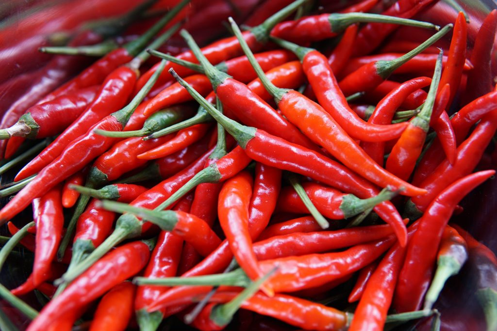 Cayenne Peppers Bunch