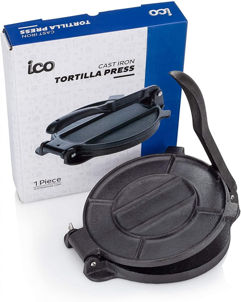 Impeccable Culinary Objects (ICO) Cast Iron Tortilla Press