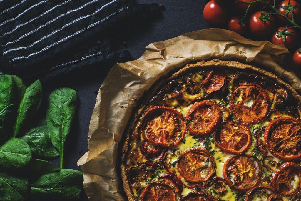 Tomato Eggplant Anchovy Pie