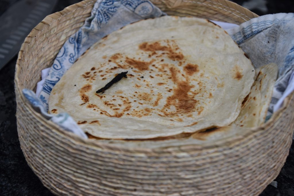 cooked masa harina tortillas