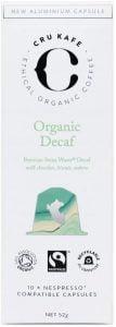 CRU Kafe Organic Decaf Coffee Capsules