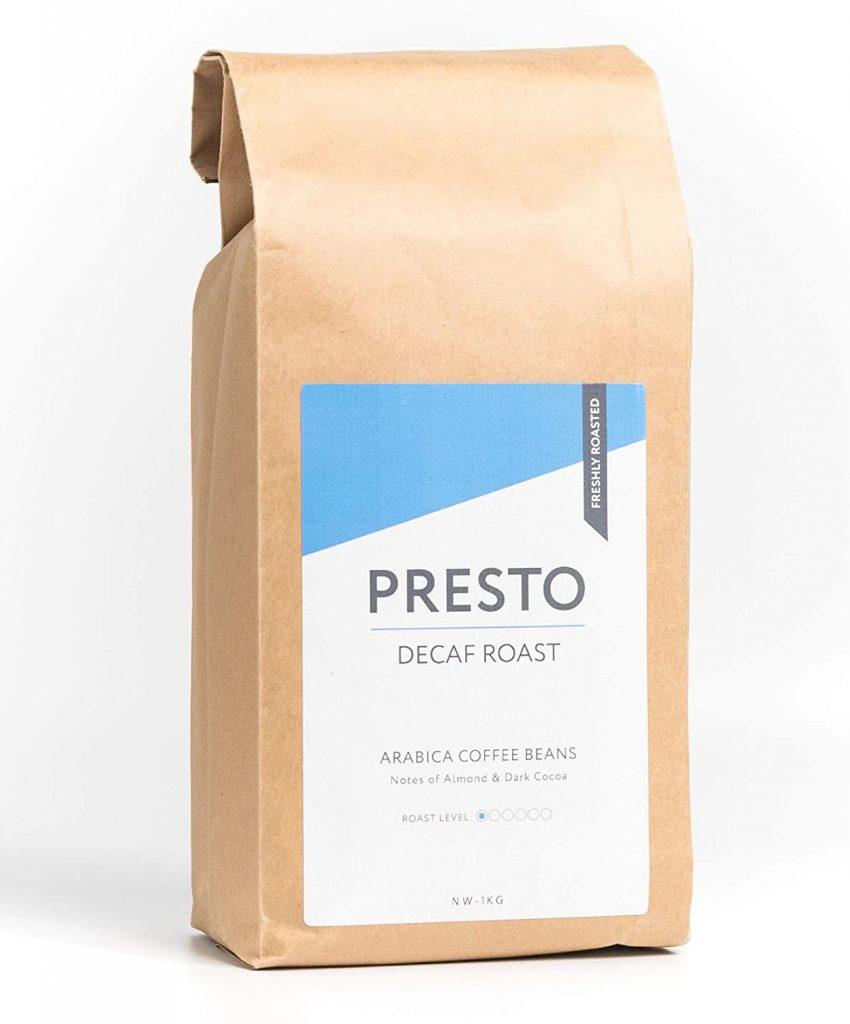 Presto Decaf Roast - Light Roast Decaf Coffee Beans