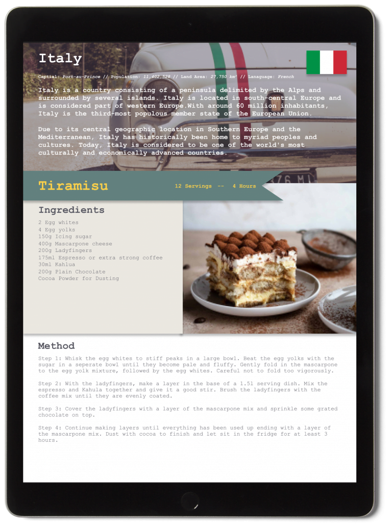 Italy Recipe Preview Page