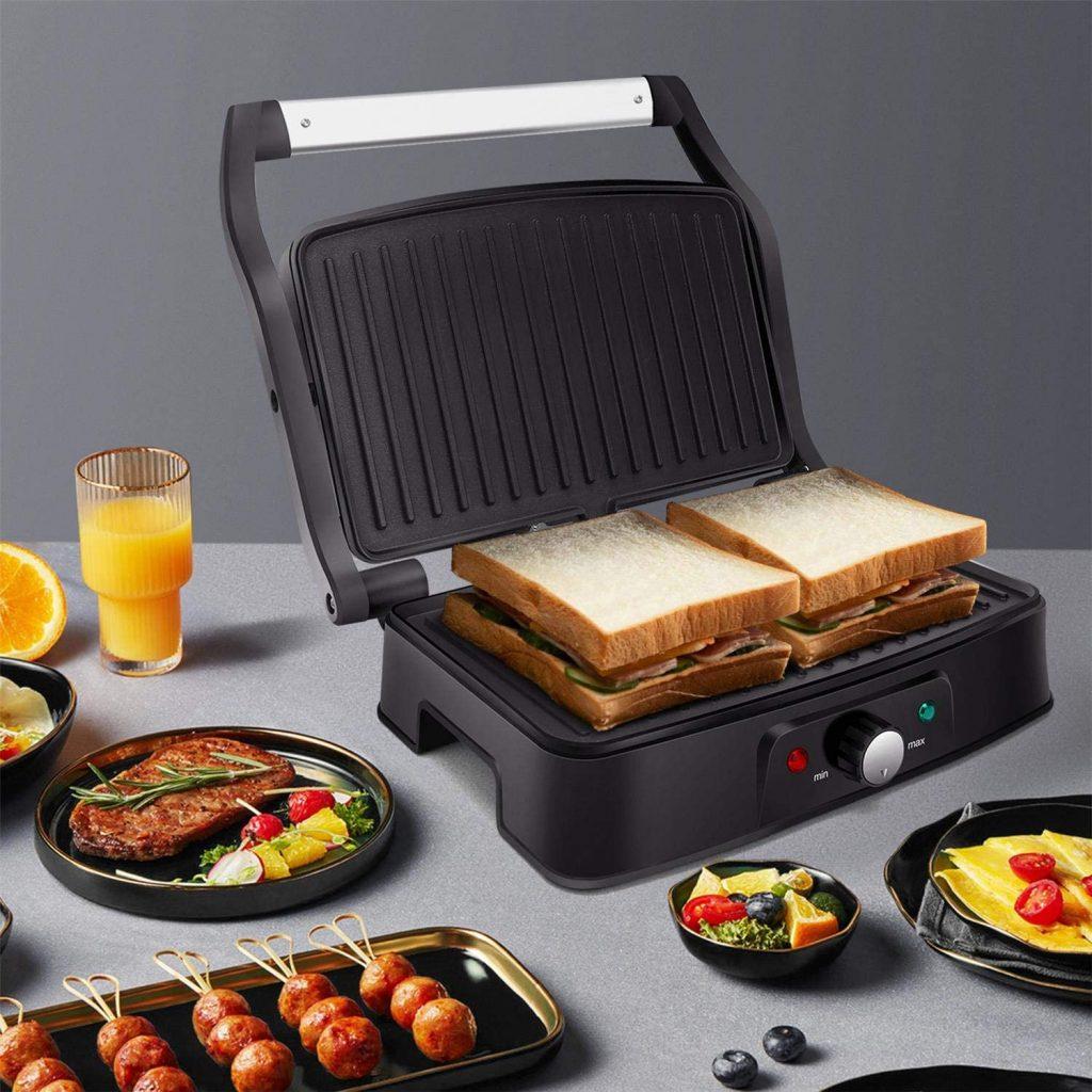 Aigostar Sandwich Press & Panini Maker,
