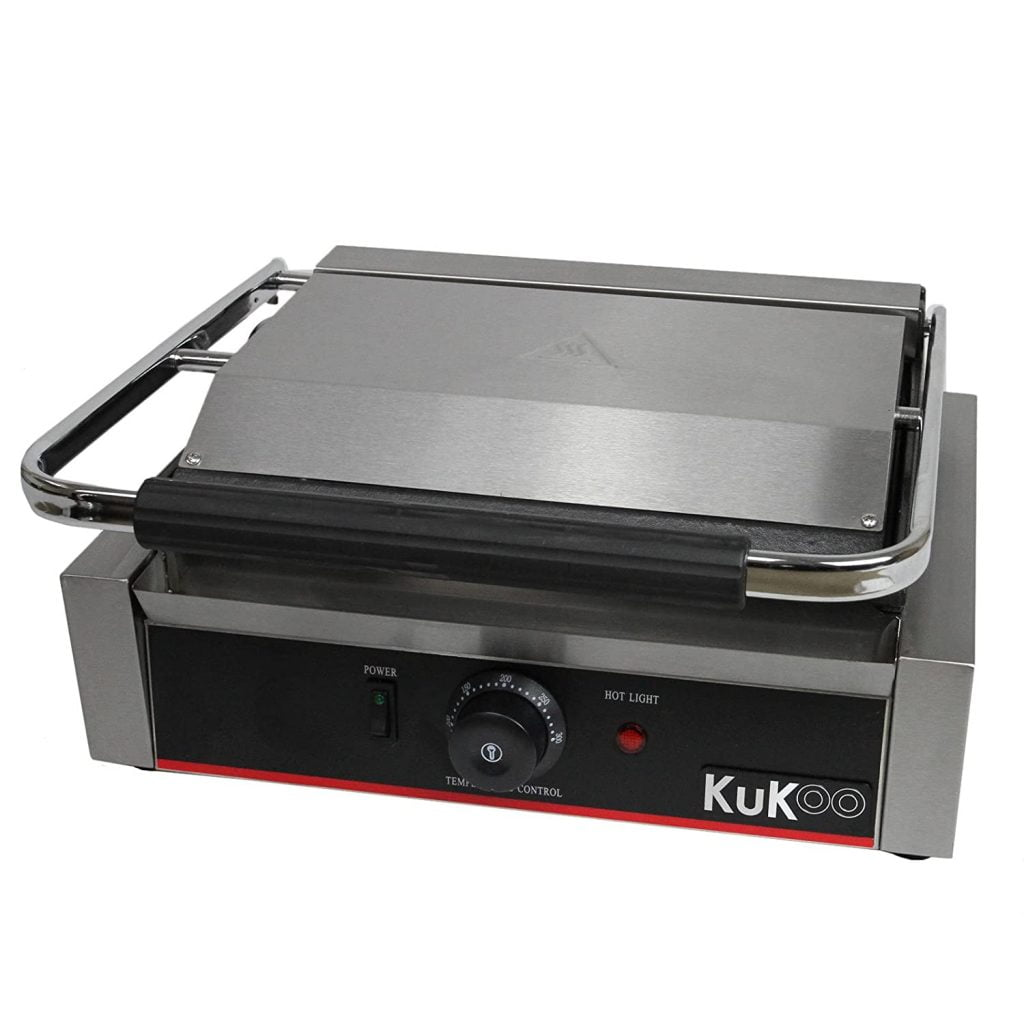 Panini Press Flat Grooved Contact Grill