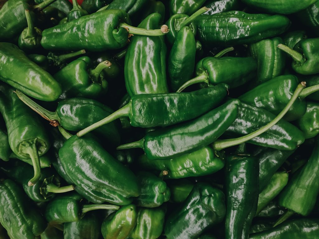 bunch of padron peppers
