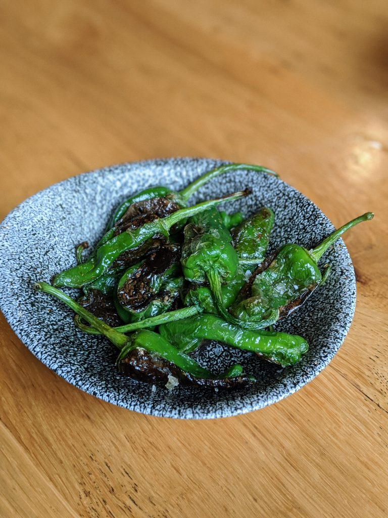 padron peppers cooked