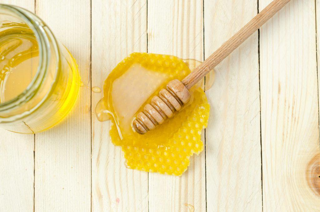 honey on a table