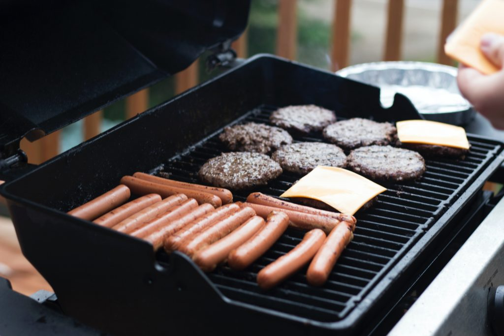 American cheese on a BBQ