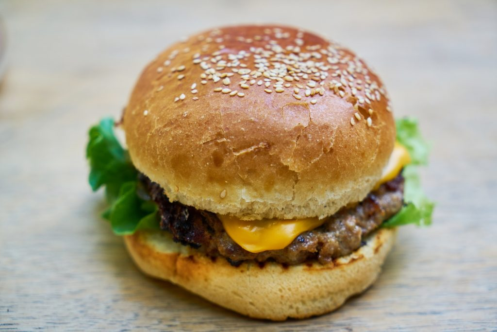 American cheese on a burger