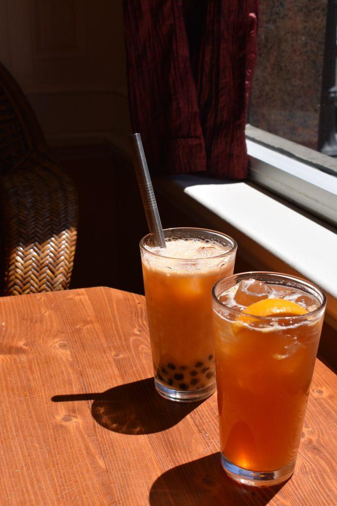 bubble tea with fruit