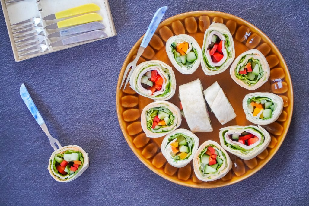 coconut wraps with chicken salad