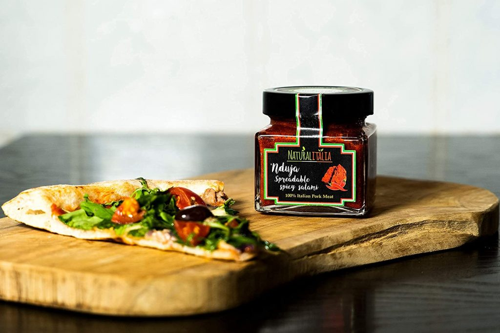 Nduja paste with pizza
