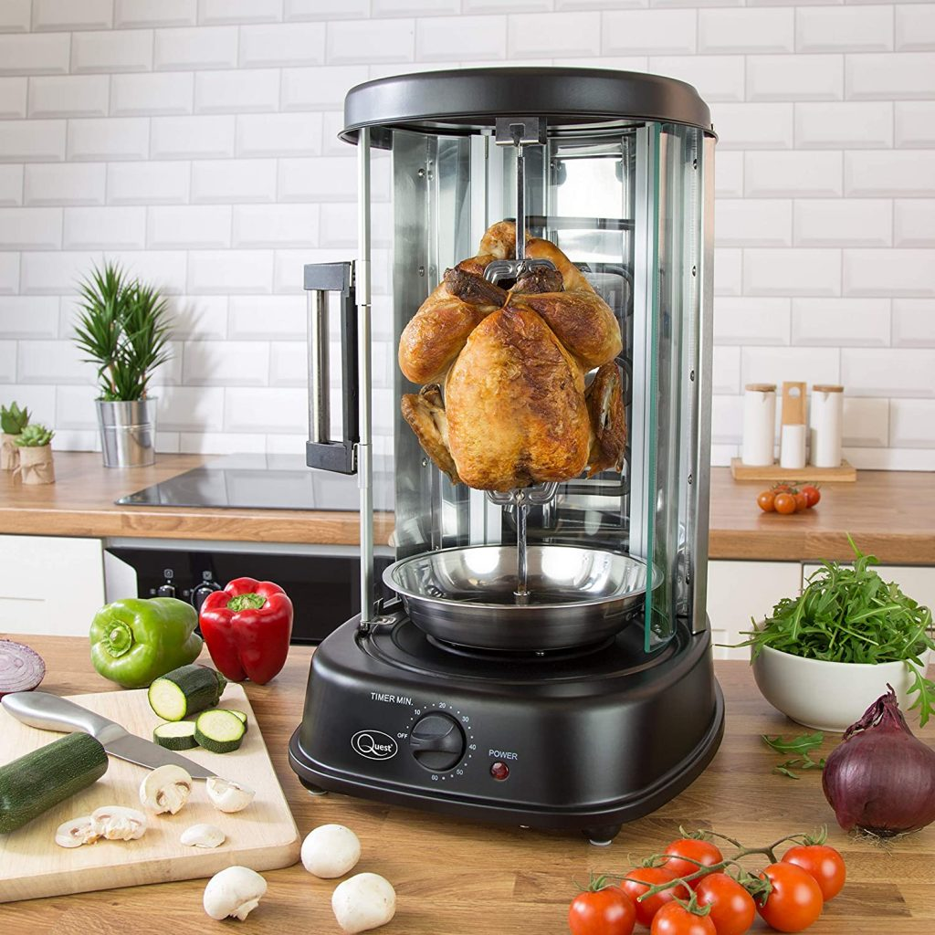 Quest 34020 electric rotisserie grill