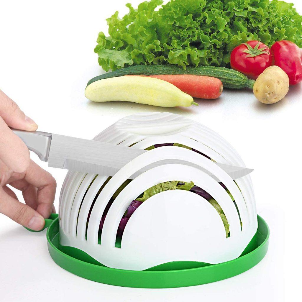 Salad chopper bowl