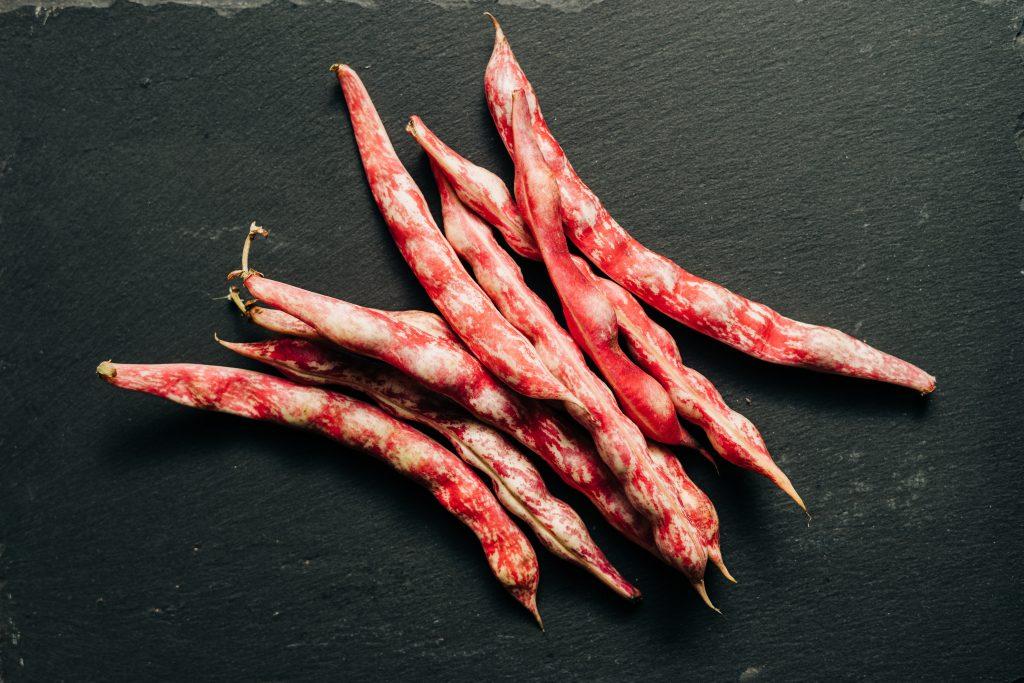 borlotti beans in their casing