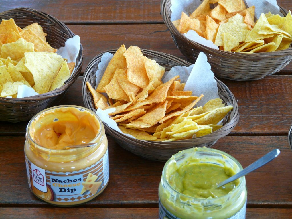 chips made from corn flour