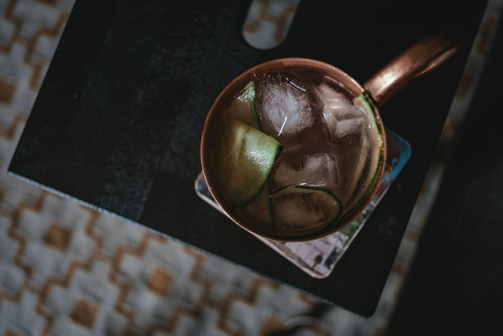ginger beer in a cocktail