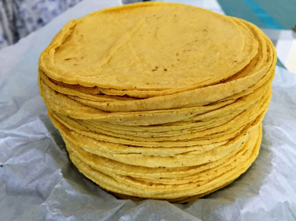 tortillas made from cornmeal