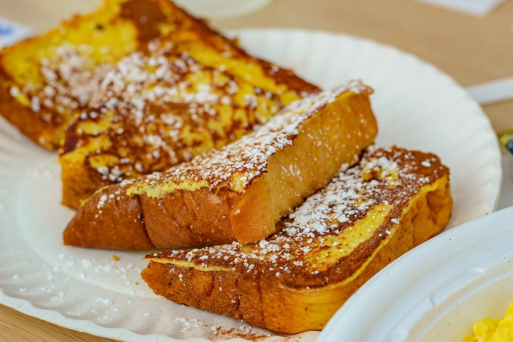 Slices of french toast