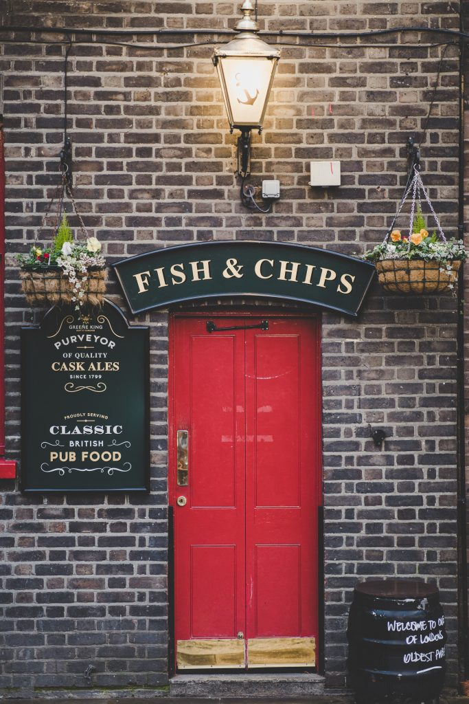 an old english chippy